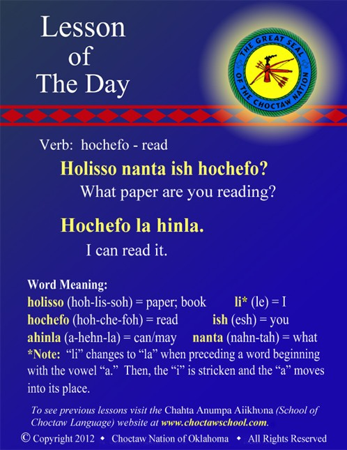 Verb: hochefo - read