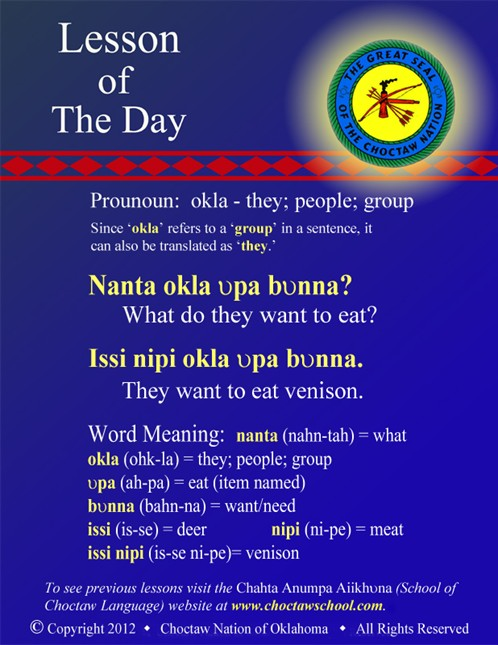 Pronoun: okla - they; people; group