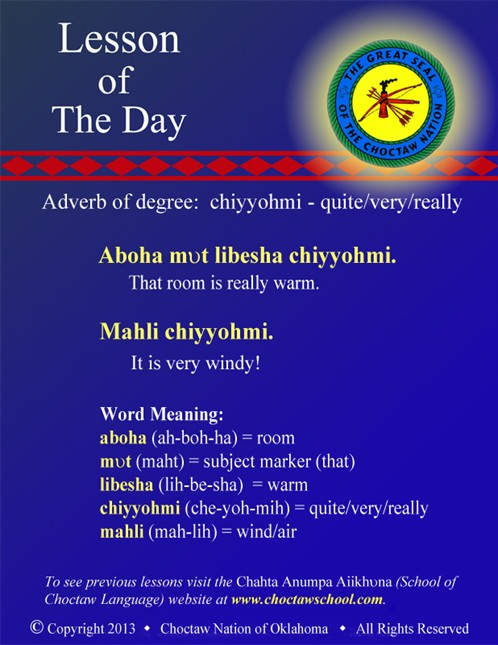 Adverb of degree: chiyyohmi - quite/very/really