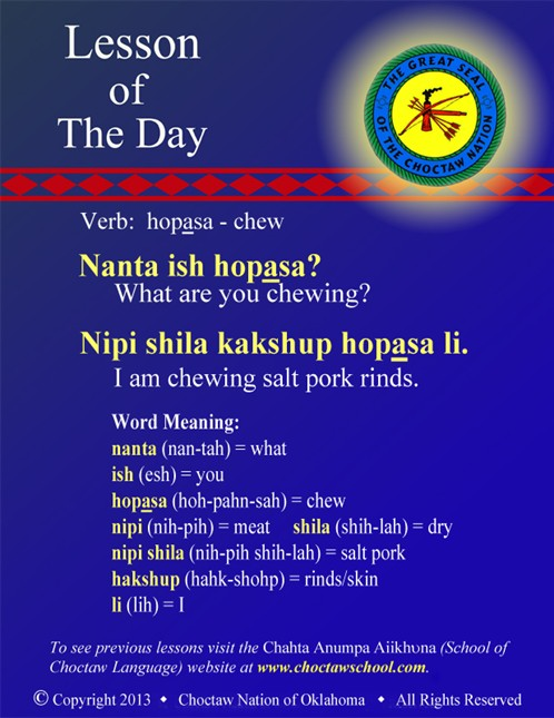 Verb: hopasa - chew