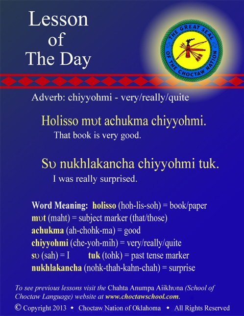 Adverb: chiyyohmi - very/really/quite