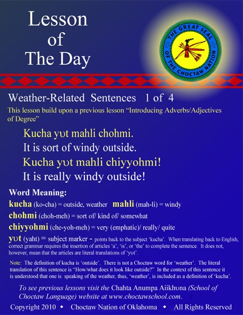 Weather Related Sentences 1