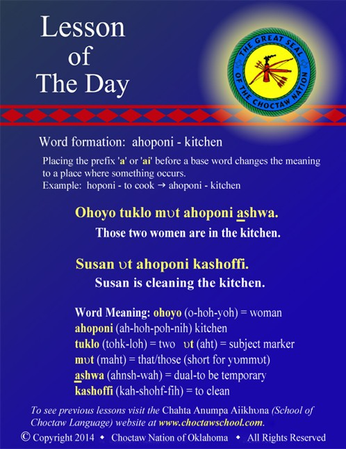 Word Formation: ahoponi - kitchen