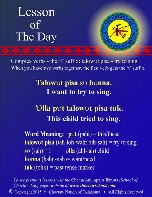 Complex Verbs: talowvt pisa - try to sing