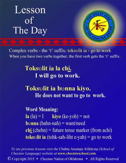 Complex Verbs: toksvlit ia - go to work