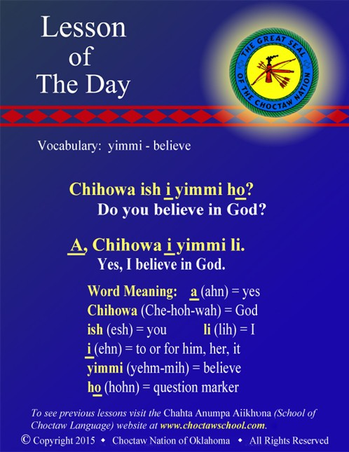Vocabulary: yimmi - believe