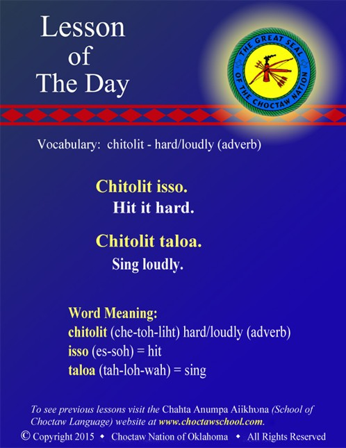 Vocabulary: chitolit - hard/loudly