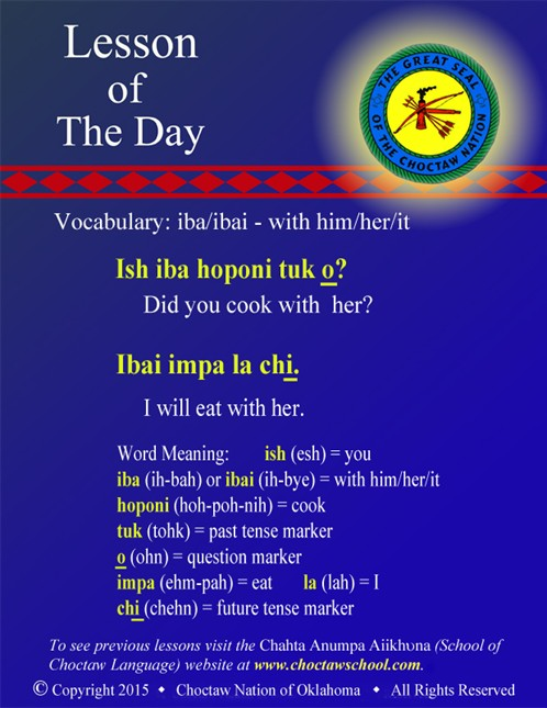 Vocabulary: iba/ibai - with him/her/it