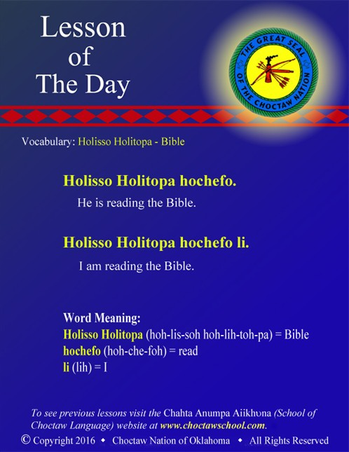 Vocabulary: Holisso Holitopa - Bible