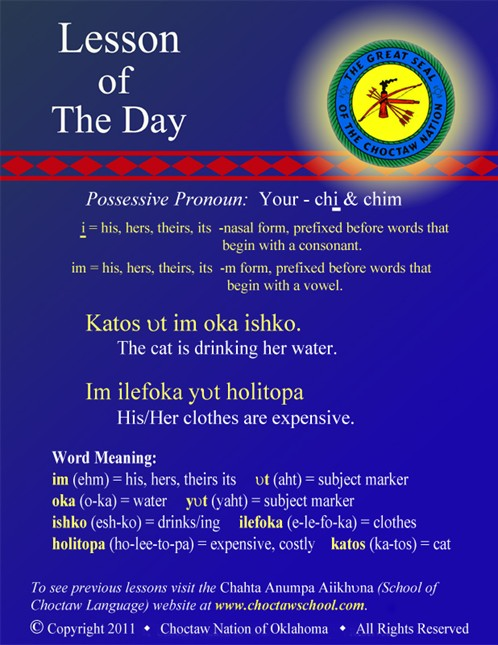 Possessive Pronouns Im oka, ilefoka