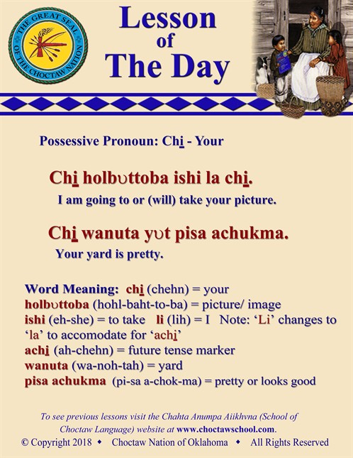 Possessive Pronoun Chi