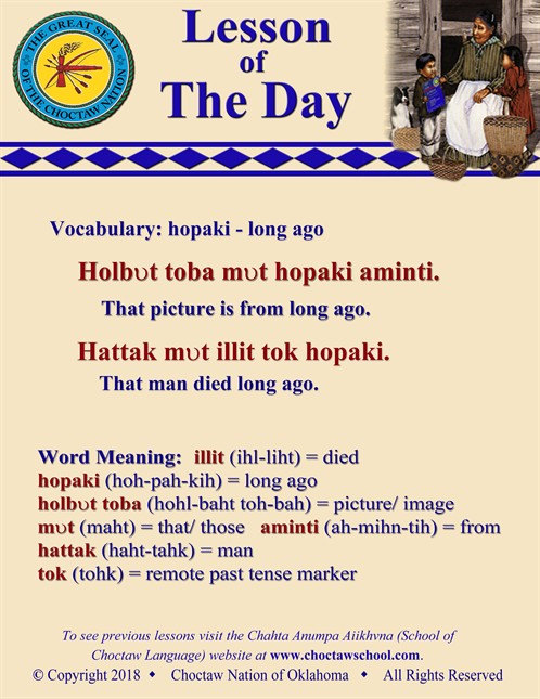 Vocabulary Hopaki