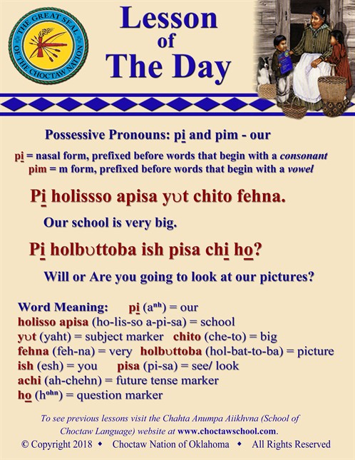 Possessive Pronouns Pi