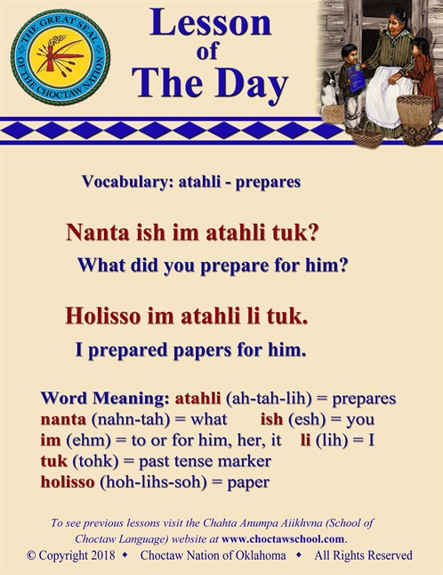 Vocabulary Atahli