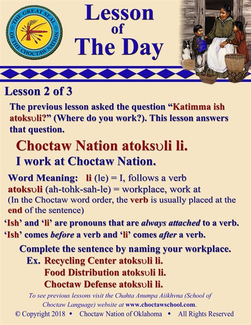 Choctaw Nation Atoksvli Li