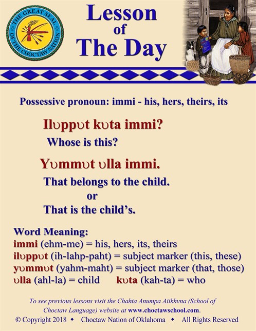 Possessive Pronoun Immi