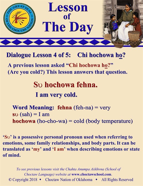 Dialogue Lesson 4 Of 5 Chi Hochowa Ho