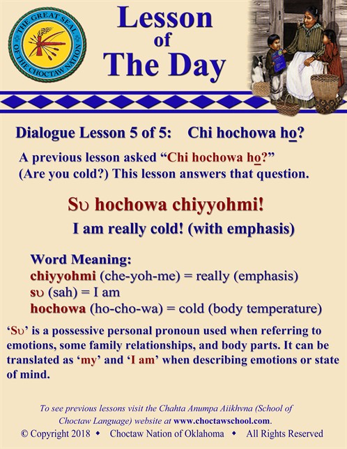 Dialogue Lesson 5 Of 5 Chi Hochowa Ho