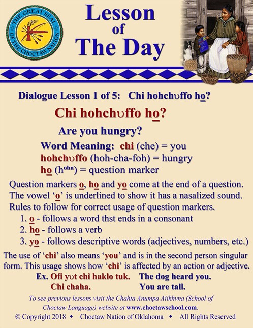 Dialogue Lesson 1 Of 5 Chi Hohchvffo Ho