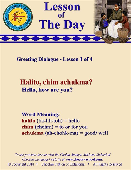 Greeting Dialogue 1 Of 4