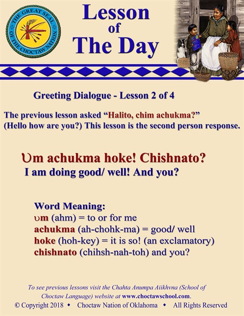 Greeting Dialogue 2 Of 4