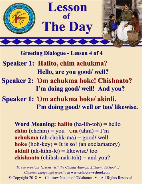 Greeting Dialogue 4 Of 4