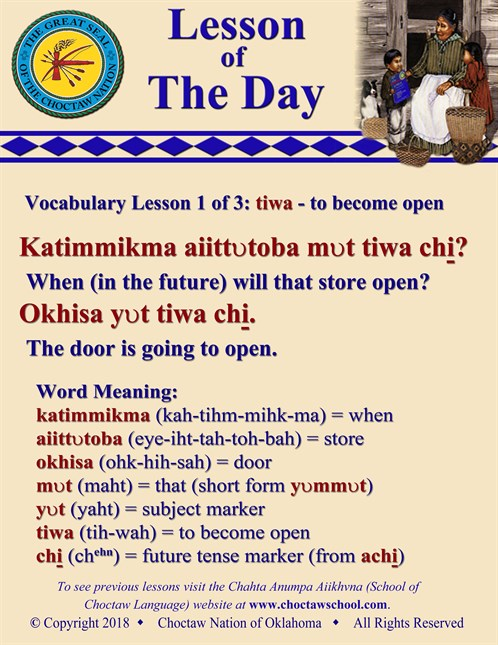 Vocabulary Lesson 1 Of 3 Tiwa