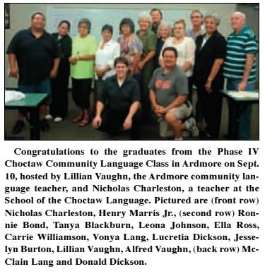 Choctaw Language Class Ardmore 2012