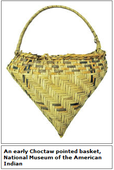 Choctaw Pointed Basket
